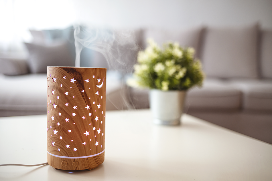 aromatherapy diffuser in use to promote wellness